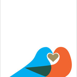 Hybrid-Home - Limited Edition Print - J'adore - What sweet lovebirds! It's love at first sight with this print, which you'll adore just as much as the birds do each other. Let them flutter into your home with this limited edition print.