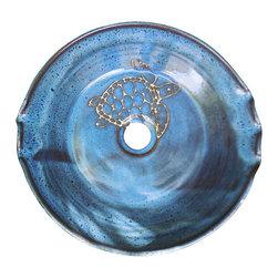 Rika Blue Pottery - Sea Turtle Vessel Sink - Sea Turtle Vessel Sink
