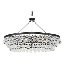 Robert Abbey - Bling Chandelier, Deep Patina Bronze - Bust out the ballroom bling in your own home! Suspend this glass dropped chandelier in your chambers and invite the neighborhood over for a cotillion, conga line or krumping dance party!