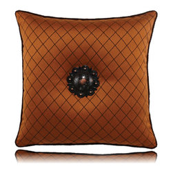 Elaine Smith - spice lattice pillow (20x20) - Performance pillows from renowned textile designer Elaine Smith® feature unique fabrics that are both soft and stylish, rich in color, lavish in detail, and impervious to the elements.