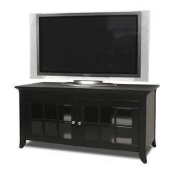 """Tech Craft - Tech-Craft Veneto 48 Inch LCD/Plasma TV Stand in Black Finish - Tech Craft - TV Stands - CRE48B. This timeless Tech-Craft Veneto Series 48"""" Black Hi-Boy Wood Stand features a bold black finish that will go well with any decor. With two adjustable shelves the TV stand has ample room for component storage. The beautiful framed doors on the Veneto Series 48"""" Black Hi-Boy Stand adds to its beauty."""