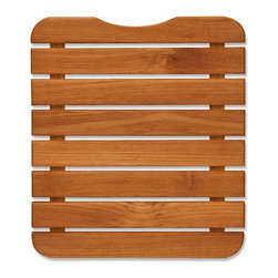 "Teakworks4u - Plantation Teak Shower/Bath Mat, 11"" X 13"" - This natural teak mat, is designed with small spaces in mind. The mat is also designed to fit into a 15 quart bucket to be used to wash feet off. Perfect for camping on a beach, campground or just for use into your house from outside."