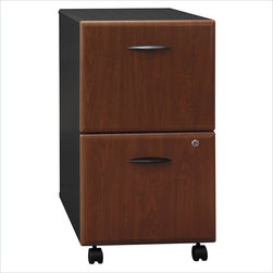 """BBF - BBF Series A 2-Drawer Mobile Pedestal - BBF - Filing Cabinets - WC94452 - Mobile convenience puts your files at your fingertips with the BBF Series A Mobile Pedestal (F/F). This versatile storage component rolls easily under all Series A 36"""" 48"""" 60"""" and 72"""" Desks for added storage with dual-wheel hooded casters (two swivel and two locking). The exterior case finish matches Series A Desking and Hutches to create a unified look. Two file drawers accommodate letter legal and A4 size files utilizing full-extension ball bearing slides for complete drawer access. A single lock secures both drawers for privacy. Solid construction meets ANSI/BIFMA test standards in place at time of manufacture; this product is American Made and is backed by BBF 10-Year Warranty."""