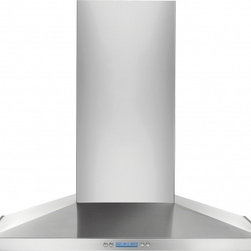"""Electrolux - RH36WC55GS 36"""" Wall Mount Chimney Hood With 600 CFM Internal Blower 2 Halogen Li - The RH36WC55GS 36 wall mount chimney range hood comes with a CFM rating of 600 This range hood comes with electronic controls with LCD display giving this range hood a modern look"""