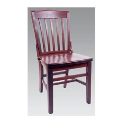 Alston - Schoolhouse Dining Chairs In Solid Beech Wood - Finish: Mahogany* Ideals for your home's kitchen, den, or living room. Made of solid beech wood. Includes 2 chairs. 17 in. W x 16 in. D x  35 in. H
