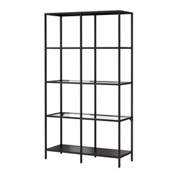 Vittsjö Shelving Unit - Billy Baldwin made an art form out of the brass bookshelf. This one from Ikea is $70, and it can really look posh when you spray paint it gold.