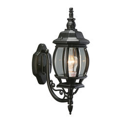 Design House - Design House 505537 Canterbury Outdoor Uplight - 6.38 x 20.5 in. - Black Die-Cas - Shop for Wall Mounted from Hayneedle.com! With scrolling classic style the Design House 505537 Canterbury Outdoor Uplight - 6.38 x 20.5 in. - Black Die-Cast Aluminum Finish will put a twinkle in your eye. Finished in a rich black this uplight is made from die-cast aluminum paired with beveled glass.About DHI CorpDHI Corp has committed itself toward providing its customers with a selection of carefully crafted high-quality products for the home and garden. With both consumer and trade markets in mind the company features domestic offices based in Mequon Wisconsin and a satellite office located in Asia. With design influences and the finest craftsmen and factories from around the globe under their employ DHI Corp has made itself a brand you can trust. Whether you need faucets fans hardware or more DHI has you covered.
