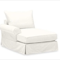PB Comfort Roll Arm Left Arm Chaise Knife-Edge, Down-Blend Wrap, Twill White - Sink into this comfort sectional just once, and you'll know how it got its name.With extra-deep seats and three layers of thick padding on the arms and back, these eco-friendly components provide roomy comfort for the whole family. {{link path='pages/popups/PB-FG-Comfort-Roll-Arm-4.html' class='popup' width='720' height='800'}}View the dimension diagram for more information{{/link}}. {{link path='pages/popups/PB-FG-Comfort-Roll-Arm-6.html' class='popup' width='720' height='800'}}The fit & measuring guide should be read prior to placing your order{{/link}}. Choose polyester wrapped cushions for a tailored and neat look, or down-blend for a casual and relaxed look. Choice of knife-edged or box-style back cushions. Proudly made in America, {{link path='/stylehouse/videos/videos/pbq_v36_rel.html?cm_sp=Video_PIP-_-PBQUALITY-_-SUTTER_STREET' class='popup' width='950' height='300'}}view video{{/link}}. For shipping and return information, click on the shipping tab. When making your selection, see the Quick Ship and Special Order fabrics below. {{link path='pages/popups/PB-FG-Comfort-Roll-Arm-7.html' class='popup' width='720' height='800'}} Additional fabrics not shown below can be seen here{{/link}}. Please call 1.888.779.5176 to place your order for these additional fabrics.