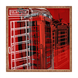 DENY Designs - Aimee St Hill Phone Box Square Tray - With DENY's multifunctional square tray collection, you can use it for decoration in just about any room of the house or go the traditional route to serve cocktails. Either way, you��_��__ll be the ever so stylish hostess with the mostess!