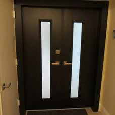 Modern Front Doors by Corry's Creations and Construction