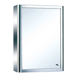 Renovators Supply - Medicine Cabinets Bright Stainless Medicine Cabinet 23 5/8'' H | 13538 - Maximize storage in style, this exquisite medicine cabinet is 100% stainless steel inside and out. The perfect investment for any bathroom. Overall measures: 23 5/8 inch H x 17 3/4 inch W x 5 1/4 inch projection.