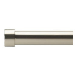 """Umbra - Cappa 1-1/4"""" Drapery Rod, 72-144"""", Nickel by Umbra - Designed to fit a range of window sizes, the rod extends from 72-Inch to 144-Inch long using an auxiliary rod that fits inside the main rod for added length and support. The worldwide leader in innovative, casual, contemporary and affordable design for the home."""