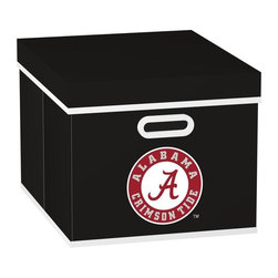 MyOwnersBox - MyOwnersBox Closet Organization College STACKITS University of Alabama 12 in. x - Shop for Storage & Organization at The Home Depot. The MyOwnersBox 10 in. x 12 in. x 15 in. University of Alabama College STACKITS Stackable Black Fabric Storage Cube has an attractive team embroided logo that looks great in your storage area. Made of sturdy non-woven polypropylene and reinforced with composite wood this storage cube has a collapsible design and folds out to form a perfect bankers box size that fits letter and legal sized folders and hanging files. Great for adding team spirit to your office or home office as well as tight spaces in your closet or college dorm room. The storage cube is also ideal for storing clothing or small toys in your children's room or laundry room. The lid is reinforced to allow stacking of 3 or more storage cubes and each comes with two reinforced plastic handles for easy mobility. Color: Black.