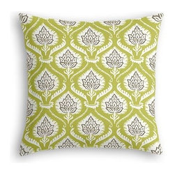 Lime Artichoke Custom Euro Sham - The secret to those perfectly made beds you eye in magazines? Euro shams. Complete your bed set with a set of Simple Euro Shams for a look that's as stylish as it is snuggly.  We love it in this preppy modern print of lime green and gray artichokes and damask-like scrolls.