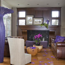 Eclectic Living Room by Interior Kitchen & Bath Designer/ Monika INC
