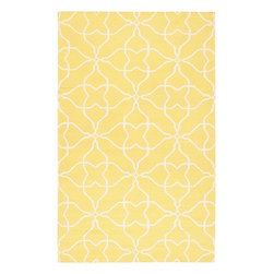 Hattie Area Rug, Yellow - With this cheerful rug underfoot, washing dishes won't feel like a chore at all.