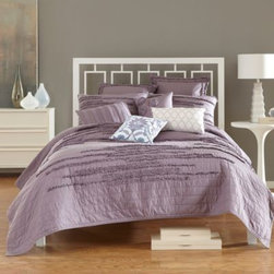 Nostalgia Home - Nostalgia Home Neveah Quilt - Spruce up the style and decor of any bedroom in your home with this Nostalgia Home Neveah quilt. Designed with a ultra-soft cotton jersey with horizontally-stitched details, this cozy quilt features rows of ruffles for added elegance.