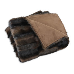 None - Taline Fur Throw Blanket (26 x 40) - This super soft blanket is the perfect throw for any room in your home. Constructed with microplush faux fur and polyester,this brown Taline blanket will warm you up and provide ultimate comfort.