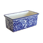 Rectangular Paloma Planter - This authentically styled blue and white planter has multiple personalities. You can use it on your kitchen counter to hold fruit, as a catchall for mail and keys in the foyer or for its original use as a planter filled with flowerpots or greenery.