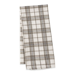 Origin Crafts - Khadhi cotton plaid tea towels (ivory/taupe), set of 2 - Khadhi Cotton Plaid Tea Towels (Ivory/Taupe), Set of 2 The Khadhi collection of refined linens embodies a nostalgic vintage French style. Because Khadi cotton fabric is entirely handmade ? from the spinning to weaving stage, it has a natural, earthy look and feeling. At the same time, it?s understatedly chic and these Khadhi tablecloths, napkins and handkerchiefs are perfect for outdoor dining, complementing a rustic breakfast table or contrasting and softening a modern dining room setting. A Caravan exclusive. Each 100% cotton tea towel is entirely handmade and yarn dyed for a natural texture. Easy care and practical: machine washable, ironing is optional. Dimensions (in):20x30 By Couleur Nature - Couleur Nature is a wholesaler of fine, French-inspired Indian woodblock-printed and vintage linens. Couleur Nature?s linens and home accessories are versatile and can be used for formal or casual table settings year-round, as well as the every day. Their distinct but wide appeal makes them ideal for almost any occasion, decor or personal style. Usually ships in three business days. Our linens are handmade: slight variations are natural and make each piece unique.