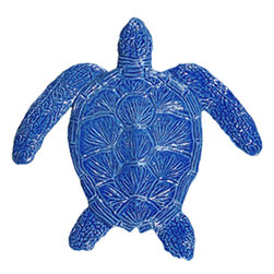 "Glass Tile Oasis - Loggerhead Turtle Pool Accents Blue Pool Glossy Ceramic - Sheet size:  6""        Tile thickness:  1/4""        Sheet Mount:  Mesh Backed    Sold by the piece       -  We offer six lines of in-stock designs ready for immediate delivery including: The Aquatic Line  The Shadow Line  The Hang 10 Line  The Medallion Line  The Garden Line and The Peanuts® Line.All of the mosaics are frost proof  maintenance free and guaranteed for life.Our Aquatic Line includes: mosaic dolphins  mosaic turtles  mosaic tropical and sport fish  mosaic crabs and lobsters  mosaic mermaids  and other mosaic sea creatures such as starfish  octopus  sandollars  sailfish  marlin and sharks. For added three dimensional realism  the Shadow Line must be seen to be believed. Our Garden Line features mosaic geckos  mosaic hibiscus  mosaic palm tree  mosaic sun  mosaic parrot and many more. Put Snoopy and the gang in your pool or bathroom with the Peanuts® Line. Hang Ten line is a beach and surfing themed line featuring mosaic flip flops  mosaic bikini  mosaic board shorts  mosaic footprints and much more. Select the centerpiece of your new pool from the Medallion Line featuring classic design elements such as greek key and wave elements in elegant medallion mosaic designs."