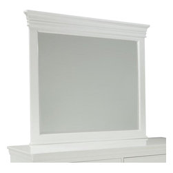 Standard Furniture - Standard Furniture Essex White Rectangular Mirror in White - Essex White is an updated and streamlined Louis Philippe design style finished in a crisp white for a clean contemporary perspective.