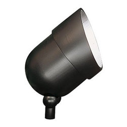 """Sea Gull Lighting - Ambiance Large Outdoor Halogen Landscape Spot Light in Black - The Ambiance Landscape Spot Light is a great way to compliment the outdoor decor of your home. Whatever aspect of your landscape you wish to accentuate, this attractive light will able to handle the job. Features: -One light outdoor directional spot light. -Black powdercoat finish. -Die-cast aluminum construction. -Rotatable glare shield. -Fully adjustable swivel base for uplighting, downlighting, moonlighting, etc.. -Corrosion resistant finish that is guaranteed for ten years. -Accomodates 1- PAR 36 screw terminal 12V 50W max miniature halogen bulb(s) not included. -Overall dimensions: 7"""" H x 5.25"""" W. About Sea Gull Lighting Once again, Sea Gull Lighting finds itself at an important milestone in its history of excellence. With the fourth generation of the Hirsch and Solomon families joining the leadership team, Sea Gull Lighting continues the tradition, doing old-fashioned business in the world of ever-evolving fashions in lighting while being committed to upgrading the Sea Gull Lighting design portfolio, manufacturing techniques and markets served. Today, every Sea Gull Lighting fixture is conceived and built to match or exceed the latest tastes in lighting design as well as the newest building codes and construction techniques. Their lighting designers and trend watchers stay in step with current tastes and search out the unique. Never satisfied with a new milestone or industry achievement, they are constantly working on new components, new finishes and new ways to make lighting increase the value of any new home, home improvement project or business channel they service."""