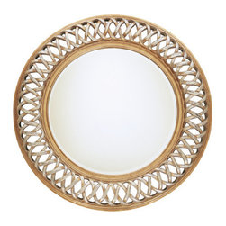 Uttermost - Uttermost 14028 B Entwined Round Mirror With Woven Look Frame - Uttermost 14028 B Entwined U MirrorThis unique, open fret frame is finished in antique silver and gold leaf over a mahogany undercoat.Features: