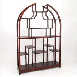 "Wayborn Etagere 48"" Display Unit in Dark Brown"