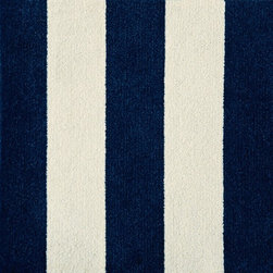 Side by Side Carpet Tile - I can never get sick of stripes, especially when they come in such a classic color combination as this one. Put the tiles in a line or arrange them at perpendicular angles for a little graphic fun underfoot.
