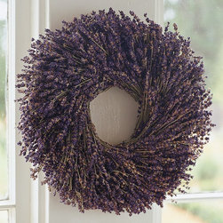Lavender Round Wreath - I can imagine getting a whiff of lavender every time I walk up to a front door with this wreath. I love its classic look.