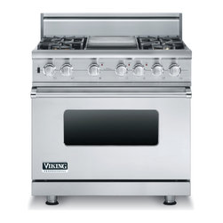 "Viking 36"" Pro-style Dual-fuel Range, Stainless Steel Natural Gas 