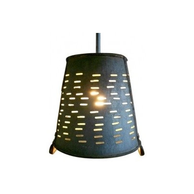 Eco Friendly Furnture and Lighting - Pendant Light from Galvanized Turkish Olive Basket.