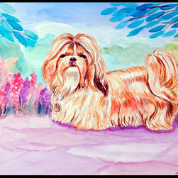 Caroline's Treasures - Shih Tzu Indoor Or Outdoor Mat 24X36 Doormat - Indoor / Outdoor Mat 24x36 - 24 inches by 36 inches. Permanently dyed and fade resistant. Great for the front door or the back door.  Use this mat inside or outside.    Use a garden hose or power washer to chase the dirt off of the mat.  Do not scrub with a brush.  Use the Vacuum on floor setting.  Made in the USA.  Clean stain with a cleaner that does not produce suds.