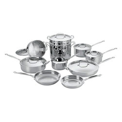 Cuisinart - Cuisinart Chef's Classic Stainless Steel 17-Piece Cookware Set - Brilliant stainless steel finish for a classic look and professional performance