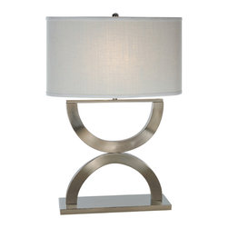 Trend Lighting - Echo Table Lamp, Brushed Nickel Finish - -120 Volts