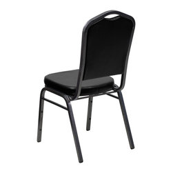 Flash Furniture - Flash Furniture Banquet Stack Chairs Banquet Stack Chairs - This is one tough chair that will withstand the rigors of time. With a frame that will hold in excess of 500 lbs., the HERCULES Series Banquet Chair is one of the strongest banquet chairs on the market. You can make use of banquet chairs for many kinds of occasions. This banquet chair can be used in Church, Banquet Halls, Wedding Ceremonies, Training Rooms, Conference Meetings, Hotels, Conventions, Schools and any other gathering for practical seating arrangements. The banquet chair is also great for home usage from small to large gatherings. For any environment that you use a banquet chair it will put your guests at a greater comfort level with the padded seat and back. Another advantage is the stacking capability that allows you to move the chairs out of the way when not in use. With offerings of comfort and durability, you can be assured that you can enjoy this elegant stacking banquet chair for years to come. [FD-C01-SILVERVEIN-BK-VY-GG]