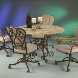 Pastel Furniture - Magnolia 5 Piece Dining Table Set in Autumn Rust - VD510-860- - Set includes Dining Table and 4 Chairs