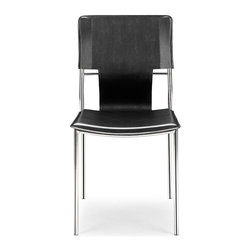 Zuo Modern - Zuo Modern Trafico Modern Dining Chair (Pack of 4) X-131404 - As conference or dining chair, the Trafico simply works. It is made with a leatherette sling and a chromed steel tube frame.