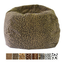 Gold Medal - Gold Medal Small/ Toddler Animal Print Bean Bag - Show off the wild side of your child's nature with this 84-inch small bean bag. Featuring your choice of animal prints,this bag is perfect for small children. Its microfiber-suede cover and polysterene-bean fill provide comfortable seating.