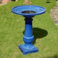 Eclectic Bird Baths by Grandin Road