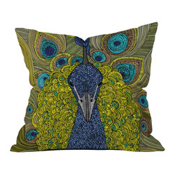 DENY Designs - Valentina Ramos Mr Pavo Real Throw Pillow - Who says bathrooms can't be fun? To get the most bang for your buck, start with an artistic, inventive shower curtain. We've got endless options that will really make your bathroom pop. Heck, your guests may start spending a little extra time in there because of it!