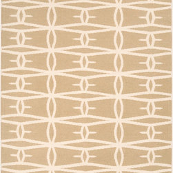 Jill Rosenwald - Jill Rosenwald by Surya Fallon Tubers Parchment Hand Woven Rug - An elongated diamond pattern recalls the geometry of navajo design on the spirited Surya Fallon area rug. Bringing eclectic flair to the modern interior, this graphic floor covering by designer Jill Rosenwald is soft and durable underfoot. 100% hand woven wool . Parchment and winter white . Flat pile. Available in several sizes . Rug pad recommended.