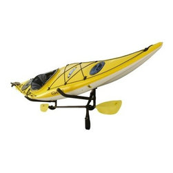 Stoneman Sports KC-12 Sparehand Wall Mount Kayak Storage Rack with Paddle Holder - The Stoneman Sports KC-12 Sparehand Wall Mount Kayak Storage Rack with Paddle Holders is an accessory we can't quit kayaking about! This super-simple wall rack holds your standard kayak safely and securely along with paddles and accessories and then folds out of the way when not in use. Built from 1-inch tubular steel with multi-stage rust-preventing coatings it's perfect for indoor or outdoor use year-round. The cradle arms are padded to protect you and your boat and the accessory bar easily accommodates your paddles PFDs and other great. About Stoneman Sports Not every sporting goods company understands the rugged terrain or the risks that go into the outdoor sports lifestyle. Stoneman Sports gets it! They specialize in developing high-quality product lines that bring innovation and simplicity to the activities you love so well. Cycling kayaking even grilling - if it's fun to do outside Stoneman Sports is streamlining the technology for today's market.