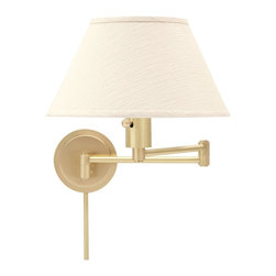 House Of Troy - House Of Troy Home/Office WS14 Collection Contemporary Swing Arm Wall Lamp X-15- - With a simple country style charm this swing arm wall lamp is perfect for any home or office space. Great for places that need a neutral style and the variety of shades give the lamp as much or as little character as needed. A great reading lamp for both the home or for office waiting rooms.