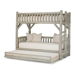 Rustic Bunk Bed with Trundle #4259 by La Lune Collection - Bunk Bed with Trundle #4259 by La Lune Collection