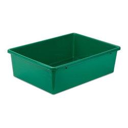 Large Plastic Bin, Grn - Honey-Can-Do PRT-SRT1602-LgGrn Large Plastic Sorter Bin, Green.
