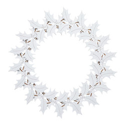 Cardboard Safari - Holly Wreath, White - Our recycled Wreaths are perfect for decorating your home or business. Our white cardboard is especially easy to paint or decorate using markers, glitter and other craft materials.
