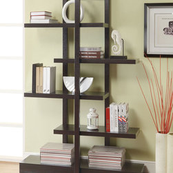 Coaster - 800317 Bookshelf - Finished in cappuccino, this bookshelf provides plenty of shelf space. Easy to ship in UPS-friendly packaging.