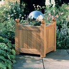 """Barlow Tyrie - Barlow Tyrie Caisse 18"""" Versailles Planter - Small, Barlow Tyrie Caisse 24"""" Versailles Planter - Large - Barlow Tyrie manufacturers an extensive range of outdoor furniture crafted from teak, all-weather wicker, stainless steel and aluminium. Their traditional and contemporary designs include deep seating chairs, dining chairs, tables, steamers, benches and swing seats."""
